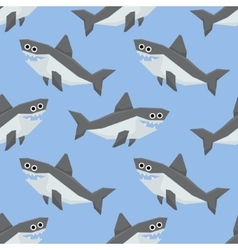 Cute Sharks Seamless Pattern vector image
