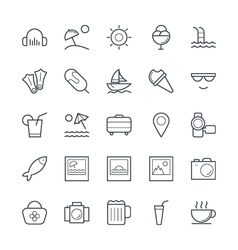 Summer cool icons 5 vector