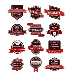 Banners and labels with ribbons vector image vector image