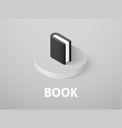 book isometric icon isolated on color background vector image