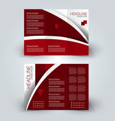 brochure mock up design template tri-fold vector image vector image
