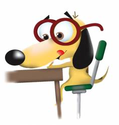 Business dog vector