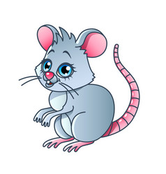 cartoon mouse isolated vector image vector image