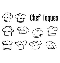 Chef traditional toques caps and hats vector