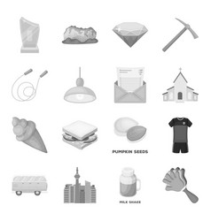 City dessert fan and other web icon in vector