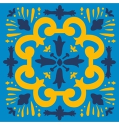 Colorful portuguese azulejo tile vector