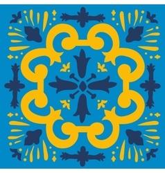 Colorful portuguese azulejo tile vector