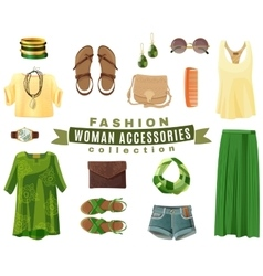 Fashion Woman Accessories Collection vector image vector image