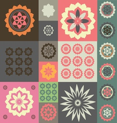 Floral esoteric wallpaper vector image vector image