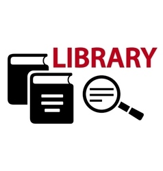 learning on library concept symbol vector image
