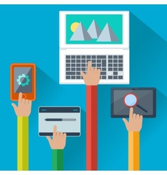 Mobile and web apps concept for digital devices vector
