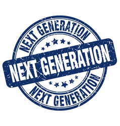 Next generation blue grunge stamp vector