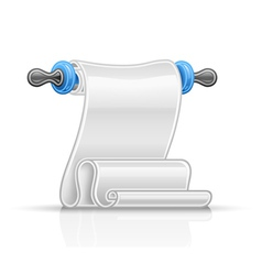 Paper scroll vector image