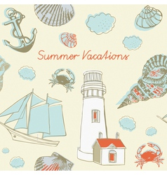 Sea Coast Vacation Background vector image vector image