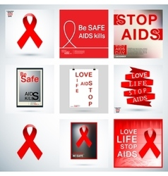Set aids poster vector