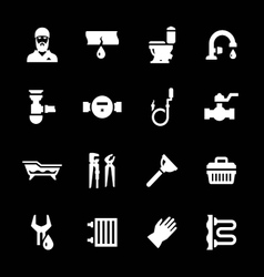 Set icons of plumbing vector image vector image