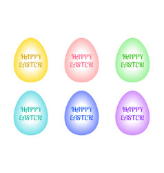 set of easter eggs of different colors vector image