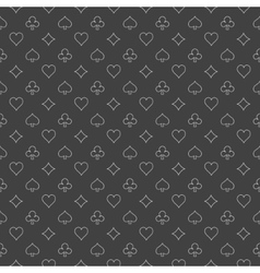 Simple casino pattern vector image vector image