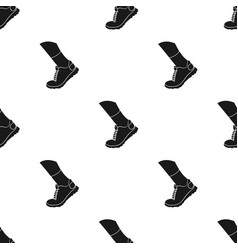 Sneakers icon in black style isolated on white vector