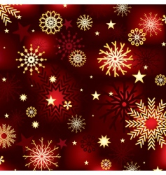 snowflakes and stars backgroun vector image vector image