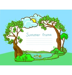 summer frame vector image vector image