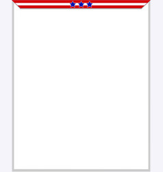 Usa flag frame blank vector