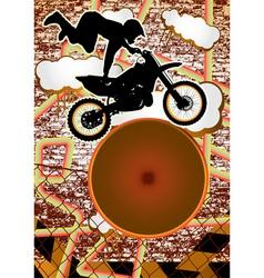 vintage urban grunge bike vector image