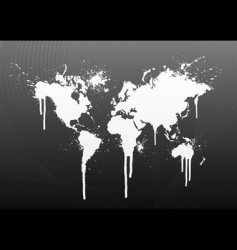 world map splatter vector image vector image