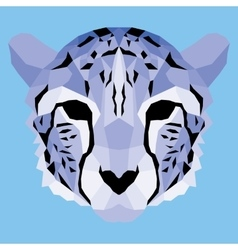 Violet low poly cheetah vector