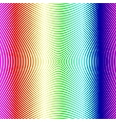 Radial colorful background with rainbow dots vector