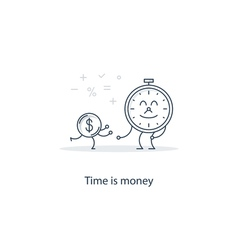 Finance education concept vector image