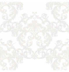 Royal floral damask baroque ornament vector