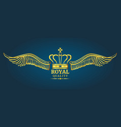 golden crown royal quality logo template vector image