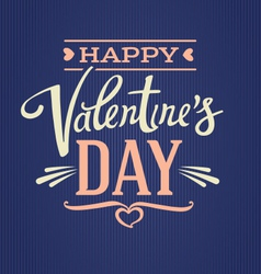 Lettering composition valentines day vector