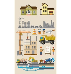 building and construction vector image