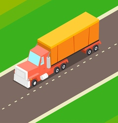 Cartoon isometric truck vector