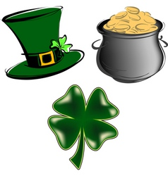 St Patrick's day items vector image