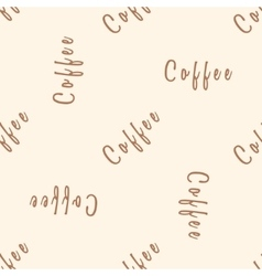 Coffee text seamless pattern beige word vector