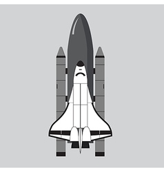Space shuttle isolated on gray vector