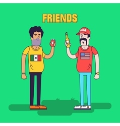 Creative of friendship between vector