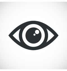 Simple eye icon with flare vector