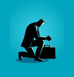 A businessman praying vector