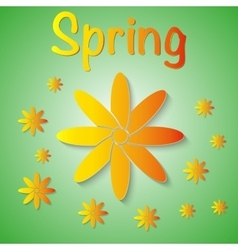 a spring background vector image