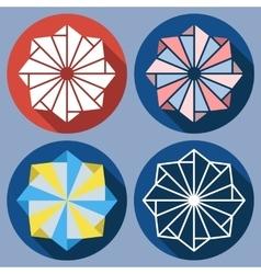 Abstract octagonal shuriken vector