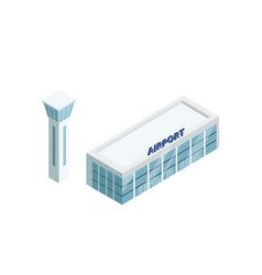 Airport building with tower vector