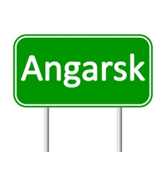 Angarsk road sign vector image