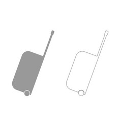 bag on wheels the grey set icon vector image vector image