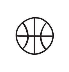 Basketball ball sketch icon vector