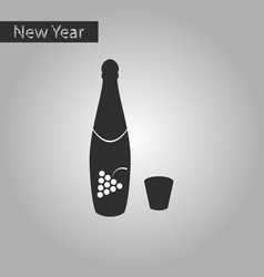 Black and white style icon of champagne vector