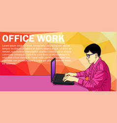 business man working day concept using laptop vector image vector image
